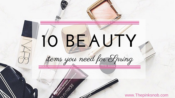 10 beauty items poster