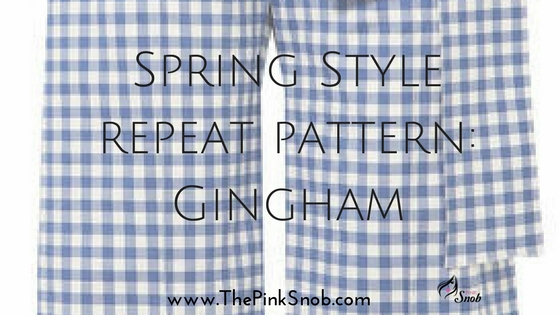Spring Style repeat pattern: Gingham