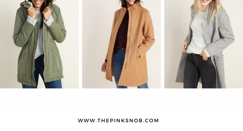 Old Navy coats. 12 Days of Christmas. Day 4